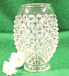 Click here to enlarge image and see more about item B127: Miniature Vase - Clear Hobnail Glass - Vintage