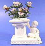 Porcelain Miniature Vase with Baby ~ Matte Glaze