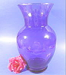Click here to enlarge image and see more about item B141: Cobalt Art Glass Vase - 11 inches