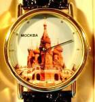 Click here to enlarge image and see more about item B181: St. Basils Cathedral - Wrist Watch - Moscow, Russia
