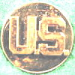 Brass Button Pin ~ U.S. Military