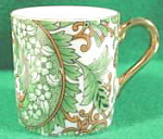 Click here to enlarge image and see more about item B203: Miniature Royal Paisley Porcelain Mug
