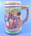 Click here to enlarge image and see more about item B212: Miniature Alpine Scene Tankard with Lustre Band