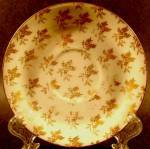 Click here to enlarge image and see more about item B229: Limoges Gold Fern Pattern Saucer