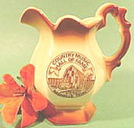 Click here to enlarge image and see more about item B230: Ceramic Pitcher ~ Country Music Hall of Fame