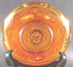 Click here to enlarge image and see more about item B234: Imperial Carnival Glass Bowl - Rose Medallion Marigold
