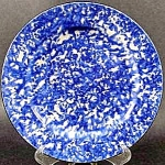 Click here to enlarge image and see more about item B240: Stangl Blue Town and Country Salad Dessert Plate