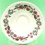 Click here to enlarge image and see more about item B269: Warwick 1949 Ironstone Floral Saucer