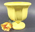 Click here to enlarge image and see more about item B270: Haeger Yellow Pedestal Planter ~ 4004