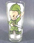 Click here to enlarge image and see more about item B306: Character Glass - Elmer Fudd - 1973 Pepsi - Warner Bros