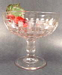Click here to enlarge image and see more about item B310: Early Glass Compote - Open Plaid - Central Glass 1885
