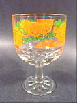 Click here to enlarge image and see more about item B312: Barware ~ Screwdriver Glass Goblet with Oranges
