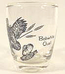 Click here to enlarge image and see more about item B31: Barware ~ Bobwhite Quail Shot Glass