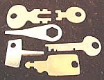 Click here to enlarge image and see more about item B329: Lot of Unusual Metal Keys ~ 6 Pieces