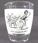 Barware ~ Shot Glass ~ Here's Looking At You!