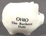 Pig Souvenir Toothpick Holder ~ Ohio