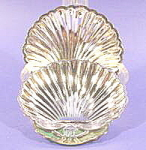 Click here to enlarge image and see more about item B378: Silverplated Pair of Shell Trays - Original Box