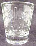 Click here to enlarge image and see more about item B39: Barware ~ Calvert's Whiskey Shot Glass