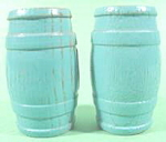 Kitchen Collectibles ~ Blue Wood Barrel Keg Shaker Set