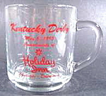 Click here to enlarge image and see more about item B493: Set of 4 Kentucky Derby Coffee Mugs - Holiday Inn -1995