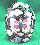 Click here to enlarge image and see more about item B550: Cloisonne Easter Egg ~ Metal and Enamel