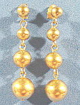 Click here to enlarge image and see more about item B570: AVON Goldtone Graduated Ball Pierced Earrings