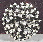 Costume Rhinestone Atomic Starburst Brooch Pin