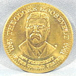 Click here to enlarge image and see more about item B588: Political ~ Theodore Roosevelt President Medallion