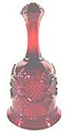 Click here to enlarge image and see more about item B58: Glass - Avon Christmas Bell 1979