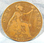 Click here to enlarge image and see more about item B593: Great Britain One Penny Coin - 1910