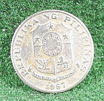 Click here to enlarge image and see more about item B603: Coin - Philippines 10 Sentimos 1967