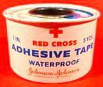 Click here to enlarge image and see more about item B613: Red Cross Adhesive Tape Tin