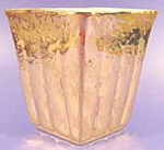 Click here to enlarge image and see more about item B616: Weeping Gold Vase ~ Marietta Modern