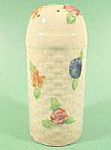 Click here to enlarge image and see more about item B626: Hand Painted Basket Weave Shaker