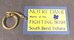 Click here to enlarge image and see more about item B631: Keychain ~ Notre Dame Fighting Irish