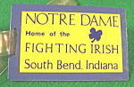 Click here to enlarge image and see more about item B632: Luggage Tag ~ Notre Dame Fighting Irish