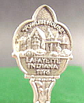 Click here to enlarge image and see more about item B637: Demitasse Souvenir Spoon ~ Fowler House ~ Indiana