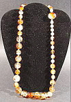 Amber Hollow Bead Necklace - Hong Kong