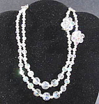 Aurora Borealis Crystal Necklace and Earring Set