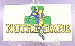 Click here to enlarge image and see more about item B659: Notre Dame Football Window  Decal