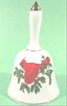 Click here to enlarge image and see more about item B68: Porcelain Bell - Christmas Cardinal - Lefton