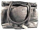 Click here to enlarge image and see more about item B698: Oversize Black  Leather  Suede Handbag Purse