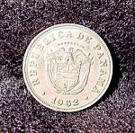 Click here to enlarge image and see more about item B707: Coin - Panama 1962 - 5 Centesimos