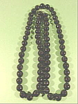 Black Faceted Bead Necklace - 36 inch - Plastic