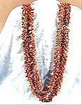 Click here to enlarge image and see more about item B725: Natural Seed Rope Necklace - 54 inches - Brown