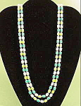 Plastic Bead Rope Necklace - 52 inches - Vintage