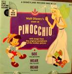 Click here to enlarge image and see more about item B748: Children's Story Book and Recording ~ Pinocchio ~ 1966