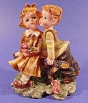 Click here to enlarge image and see more about item B752: Figurine - Puppy Love Children