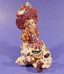Figurine - Girl and Dalmatian Puppies