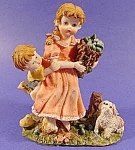 Click here to enlarge image and see more about item B771: Figurine - Pickle Girl and Puppy